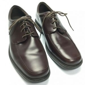 Rockport Evander Oxford Shoes Brown Leather 11.5M